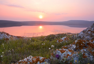 Кояшское озеро на рассвете