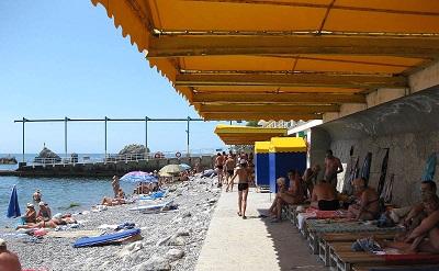 Пляж санатория Симеиз