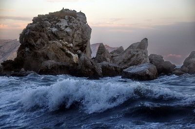 Шторм у Крабьего острова