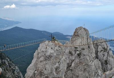 гора Ай-Петри в Крыму подвесные мосты