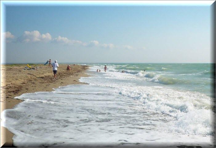 дикие пляжи бакальская коса