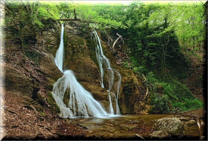 водопад гейзер крым