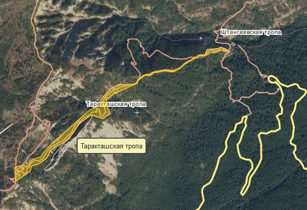 таракташская тропа маршрут по карте (схема)