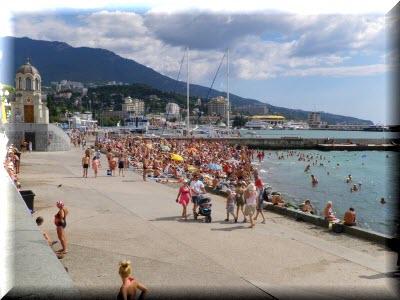 ялта пляж на набережной