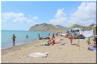 тихая бухта крым пляж