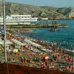 Веб-камера Судака. Набережная, море, Алчак и пляж