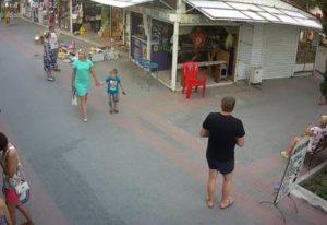 фото с веб-камеры на Кипарисовой алее в Судаке