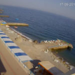 Веб-камера Алушты. Семидворье. Пляж у отеля «Эллада»