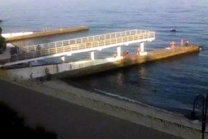 фото с веб-камеры у отеля Рай в Алуште
