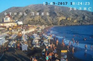фото с веб-камеры у ресторана Ривьера в Судаке