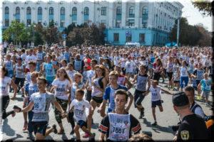 фото со дня бега Кросс нации 2016