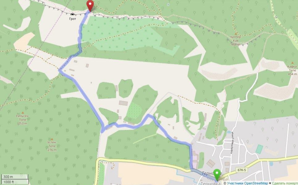 маршрут от Терновки до монастыря Челтер-Мармара