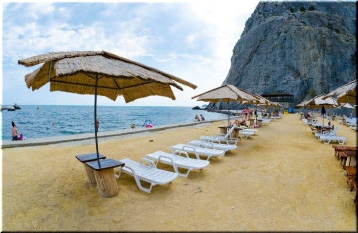 пляж Мохито в Судаке