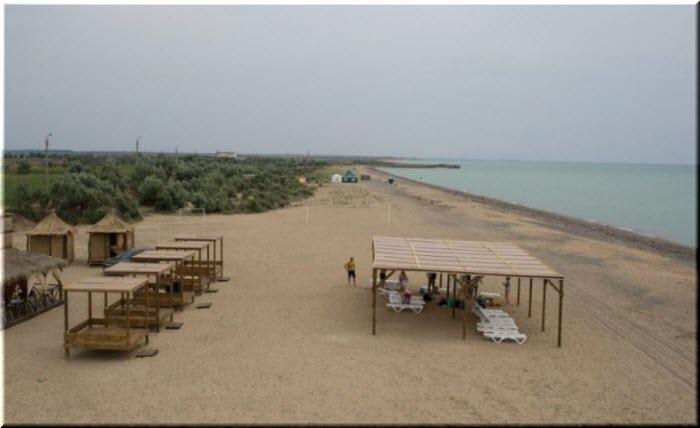 дикие пляжи Новофедоровки