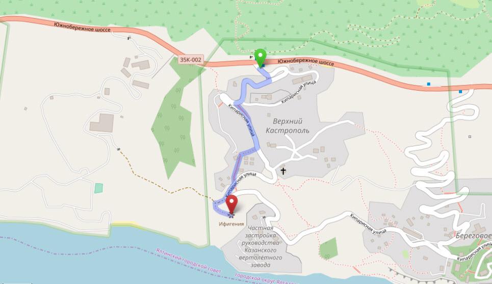маршрут на гору Ифигения