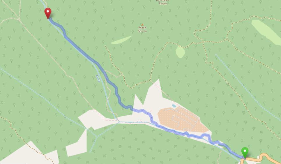 маршрут до в. Гейзер