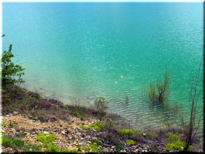 берега Белогорского водохранилища