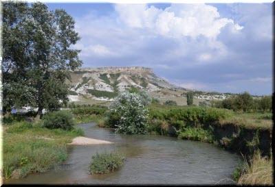 Биюк-Карасу и Белая скала