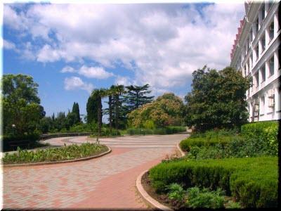 фото парка возле дворца
