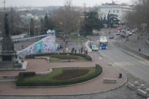 фото с веб-камеры на ул. Ленина в Севастополе