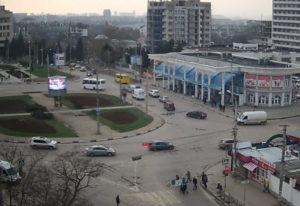 фото с веб-камеры у площади Восставших в Севастополе