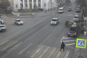 фото с веб-камеры у улицы Ленина 14 в Севастополе