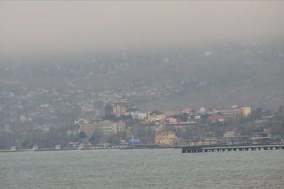 фото с камеры на Черноморской набережной Феодосии