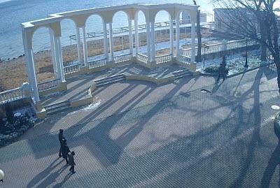 фото с камеры у набережной Евпатории