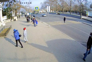фото с камеры у остановки площадь Нахимова