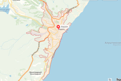 фото с карты Алушты