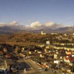 Панорамная веб-камера у отеля «Алушта». Вид на горы и город