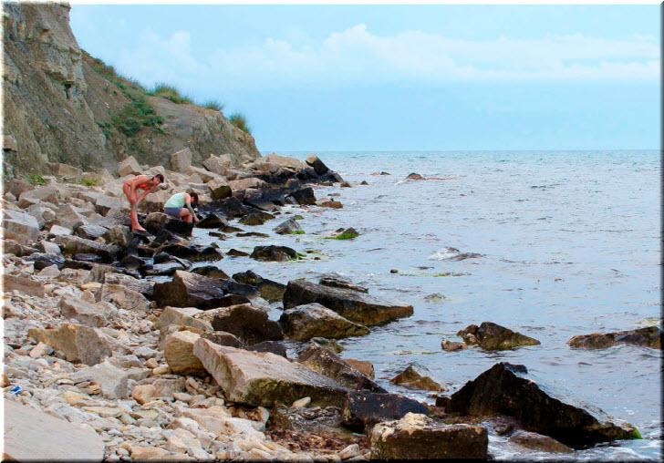 пляж у мыса Чумка
