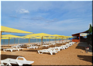 Пляж Жемчужный в Феодосии