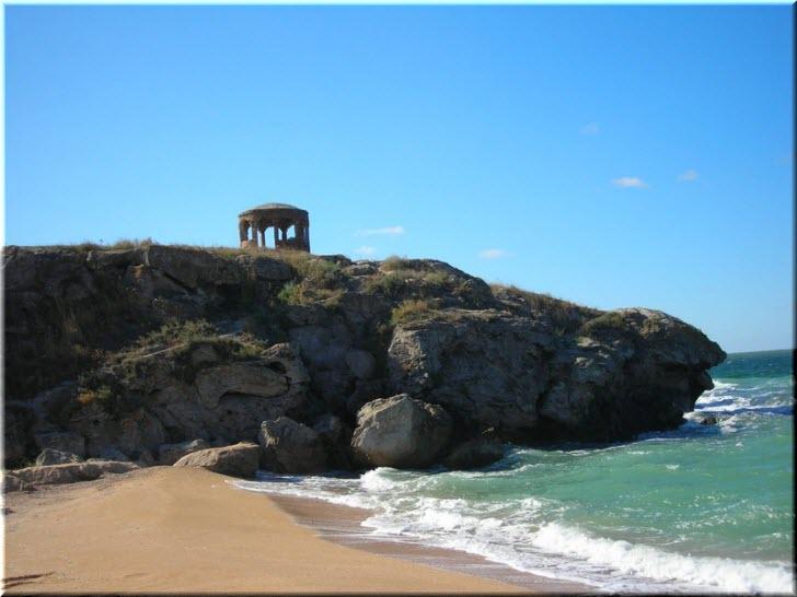 дикие пляжи Казантипа