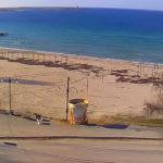 Веб-камера на пляже поселка Черноморское (Крым)