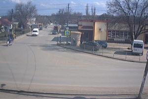 фото с камеры у перекрестка улиц Ленина и Маркса в Гвардейском