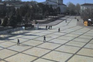 фото с камеры у пл Ленина в Керчи
