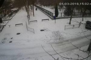 фото с камеры у улицы Пушкина в Евпатории