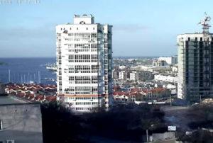 фото с камеры у ЖК Дрим Таун в Севастополе