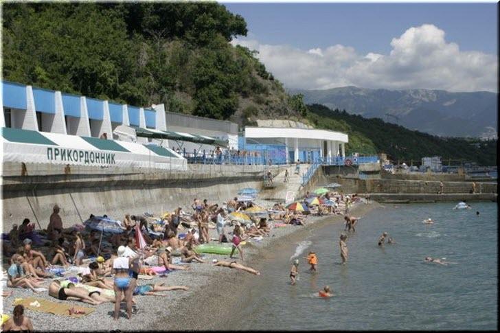 пляж санатория Пограничник
