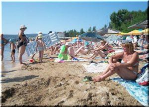 Детский пляж в Феодосии