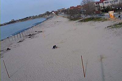 фото с камеры у пляжа Колхозный