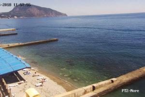 фото с камеры на пляже Ай-Даниль