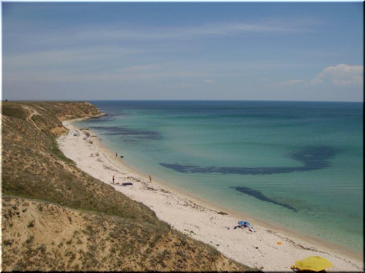 дикие пляжи Окуневки