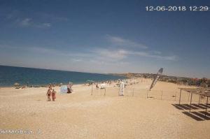 фото с камеры на пляже Любимовки