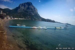 фото с камеры на пляже Нового Света