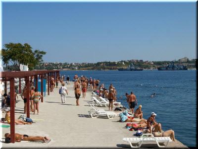 фото с пляжа Хрустальный