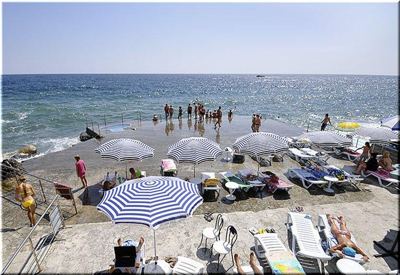 пляж отеля Аркадия
