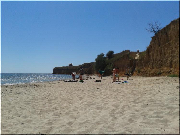 пляж в Марьино