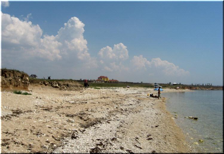 пляж в Окуневке